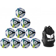 Top Angebot !! 10x Erima Trainingsball Hybrid incl. Ballnetz